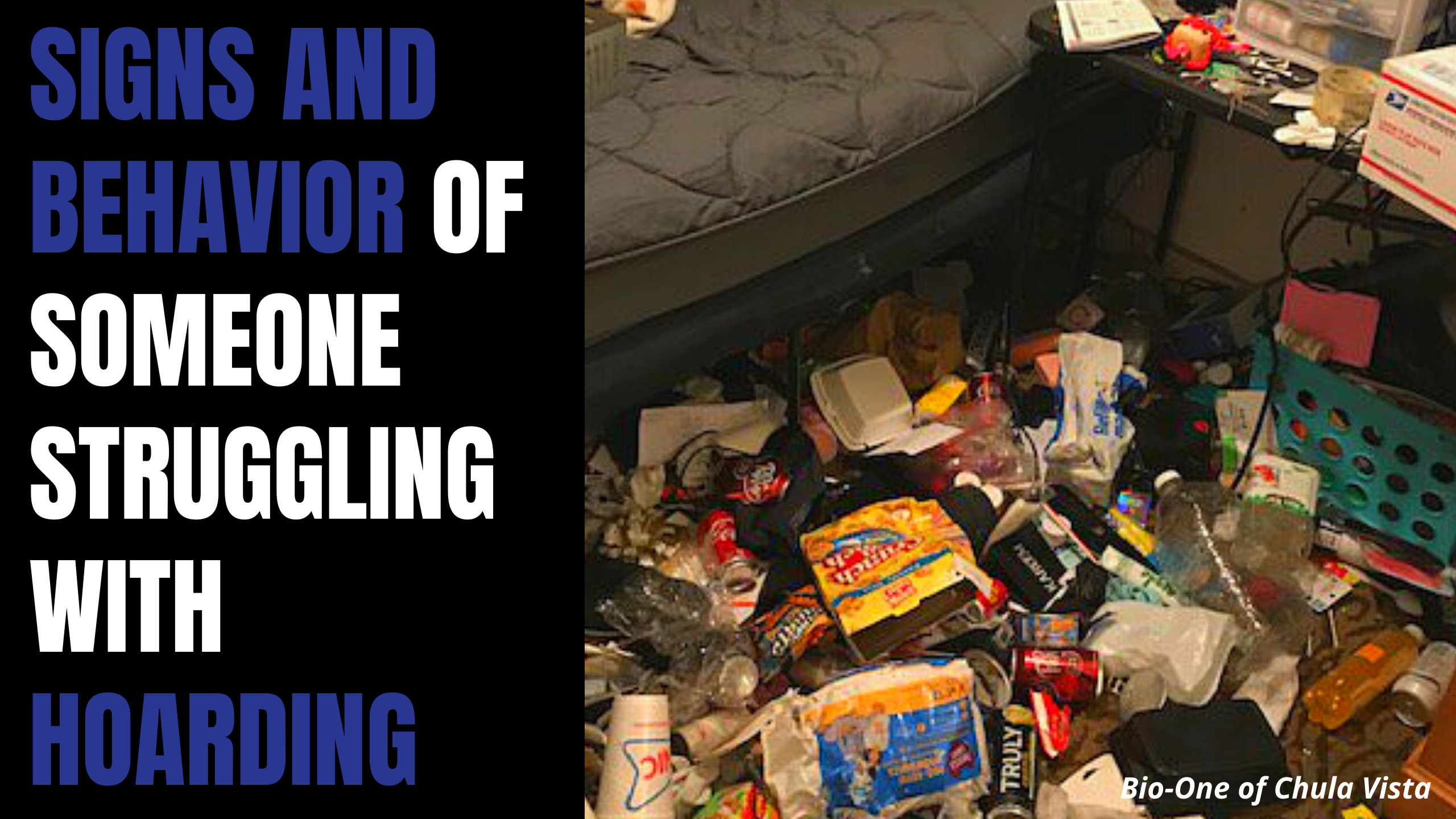 What are the signs and behavior of someone struggling with Hoarding?